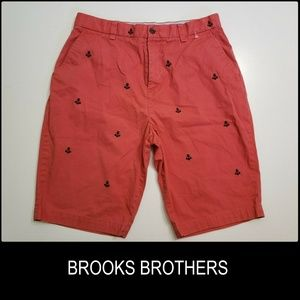 Brooks Brothers Men Flat Front Short Red Size 30